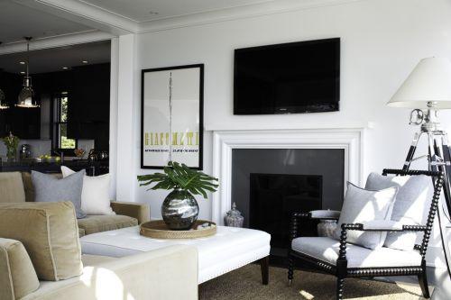 2018創意簡約黑色客廳設計裝潢