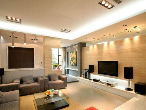 大氣優雅簡約客廳整體效果