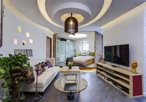 個性簡約風格客廳裝修設計
