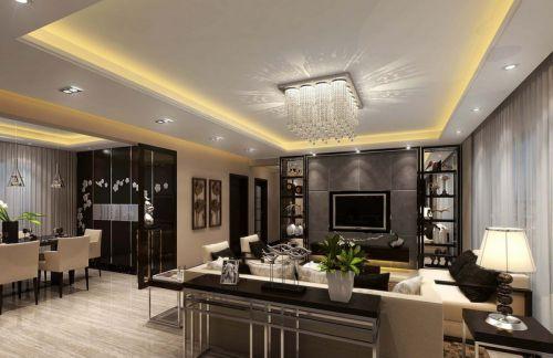 簡約風質感灰色客廳裝修欣賞