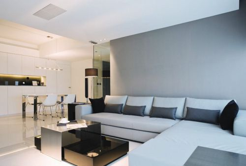灰色簡約客廳裝修效果圖