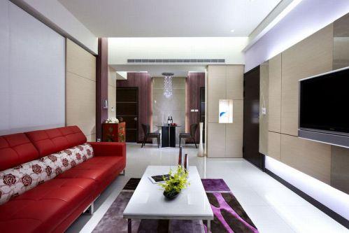 清爽簡約風格客廳裝潢效果圖設計