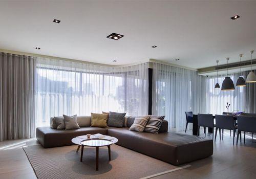 開放式簡約客廳裝修設計