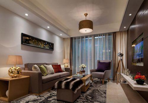 舒適簡約客廳設計效果
