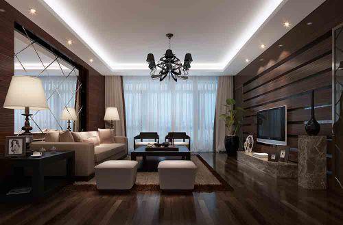 原木色時尚簡約客廳設計