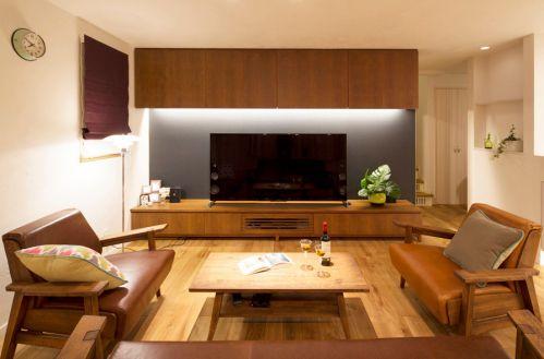 2018原木質樸簡約風格客廳設計