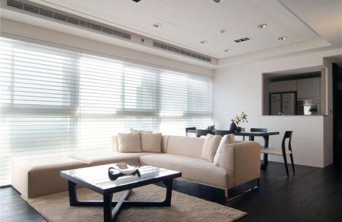 淡雅清爽簡約風格米色客廳裝修布置
