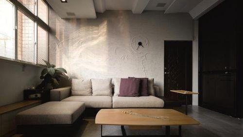 灰色淡雅簡約風格客廳裝潢賞析