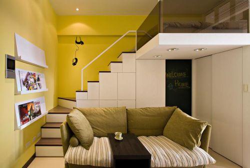黃色簡約風格客廳裝修設計賞析
