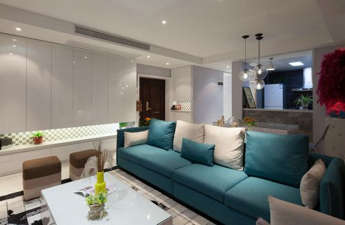 2018簡約風格藍色客廳裝修案例