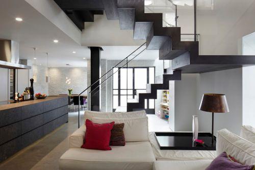 灰色簡約風格客廳裝修效果圖片