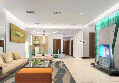 明亮簡約客廳裝修整體效果展示