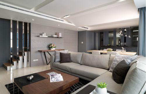 灰色質感簡約風客廳設計裝潢