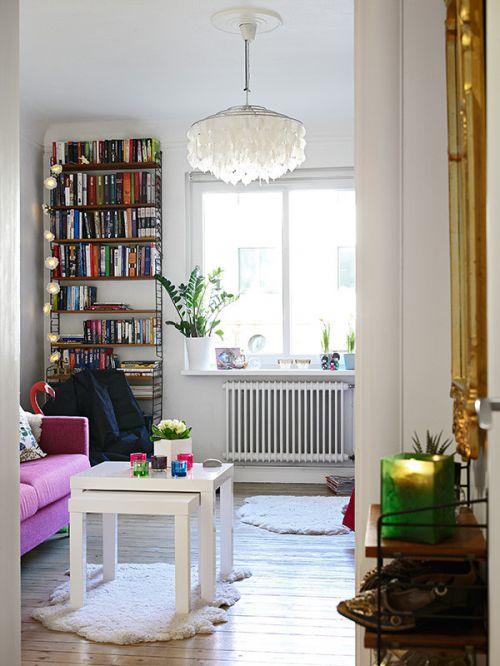 簡約風格白色客廳裝修設計欣賞