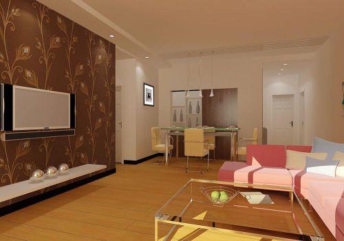 浪漫舒適時尚簡約風格客廳設計效果圖
