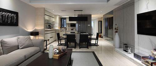 灰色簡約客廳設計案例