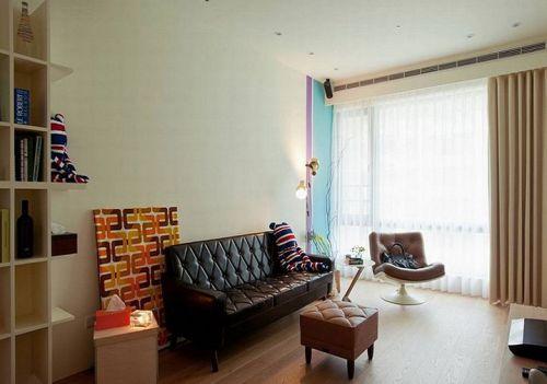 簡約風清新米色客廳裝修效果圖