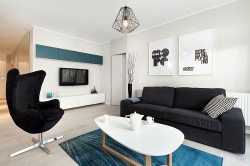 簡約風格大氣白色客廳設計圖片