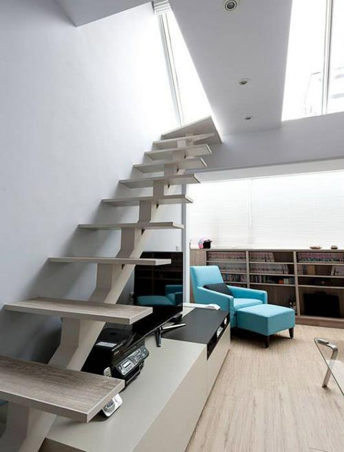 个性翻转简约楼梯设计