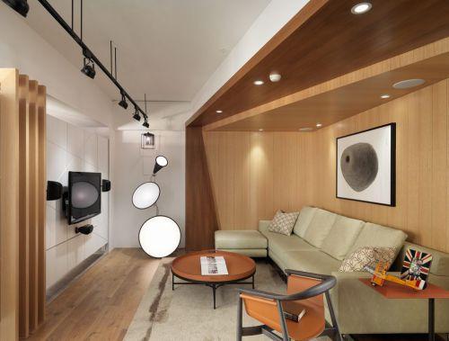 素雅原木簡約客廳時尚設計欣賞