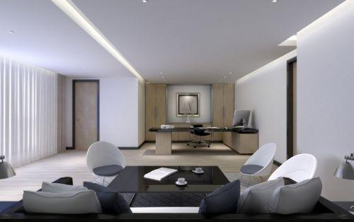 灰色極致簡約風格客廳效果圖賞析