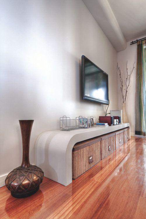 雅致自然簡約質樸米色客廳裝潢設計