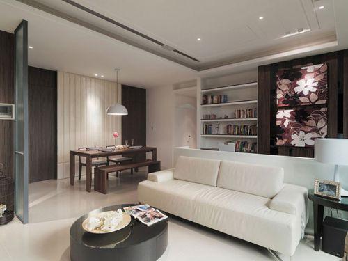 白色簡約客廳裝潢