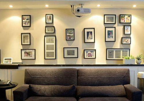 创意现代客厅照片墙设计