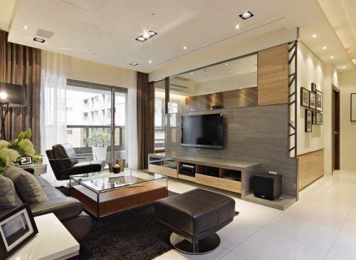裸色自然大氣現代風格客廳設計案例