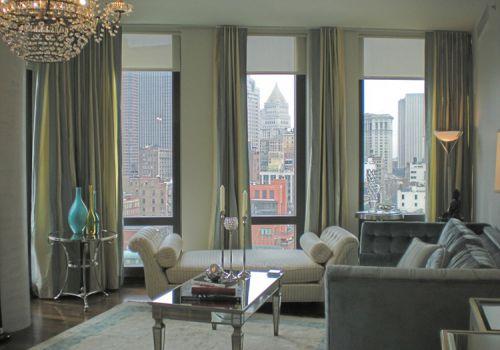 大氣現代風客廳窗簾美圖