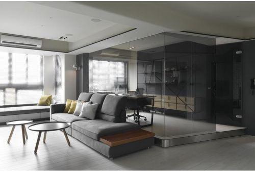 通透大氣時尚現代風格客廳設計裝潢案例