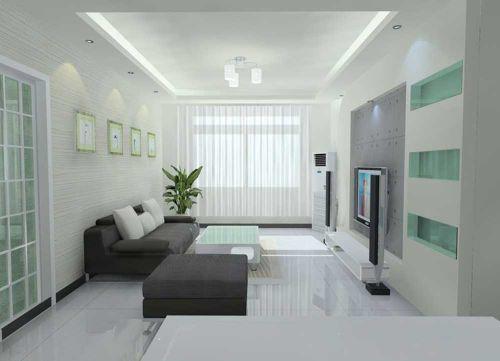 簡約時尚清爽客廳設計圖