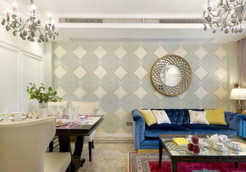 清新现代客厅背景墙设计