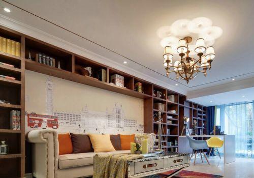 创意收纳现代沙发背景墙设计