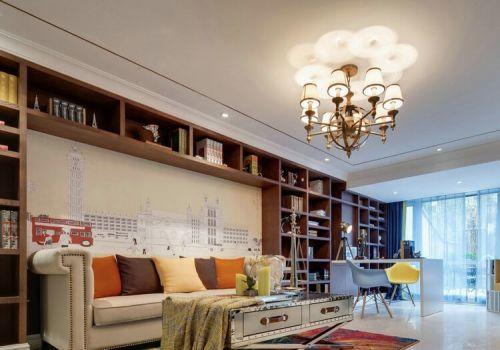 創意收納客廳背景墻設計