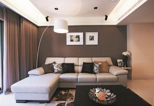 现代风格灰色客厅照片墙效果图欣赏