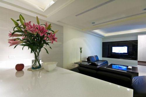 2018現代風格白色客廳設計裝潢