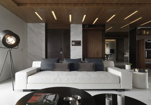 光影現代客廳設計效果