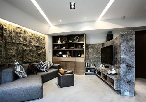 石質現代客廳設計效果