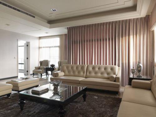 優雅精致現代風格米色客廳設計效果圖賞析