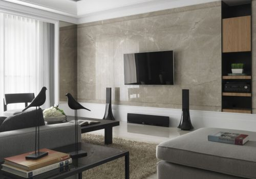 大理石电视背景墙设计