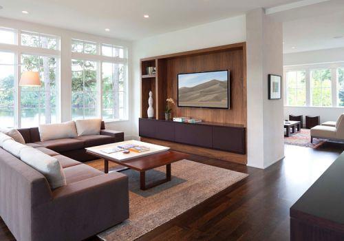 现代电视墙隔断设计