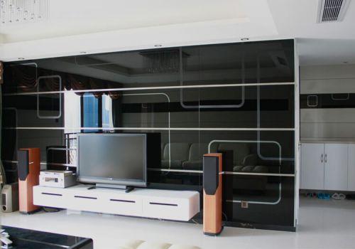 黑色客厅背景墙设计