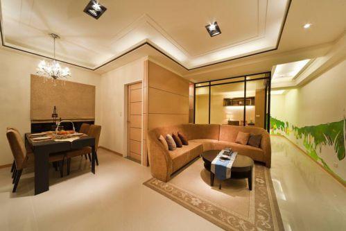 现代风格餐厅客厅吊顶美图赏析