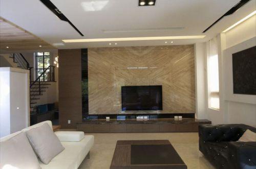 现代风格大理石电视背景墙装修效果图