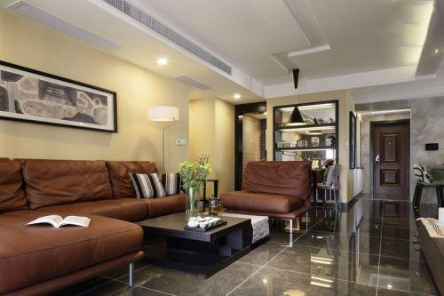沉穩大氣現代風格客廳裝潢裝修圖片