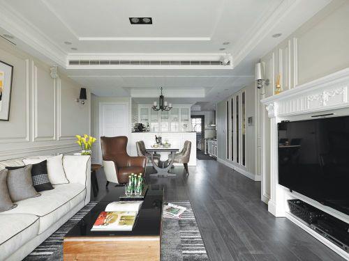 時尚裸灰色淡雅現代風格客廳裝飾案例
