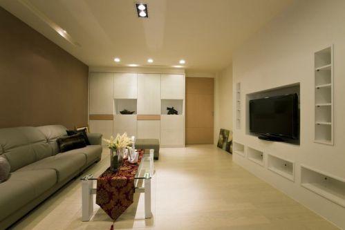 現代風格時尚米色客廳圖片欣賞