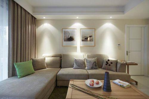 米色素雅現代風格客廳設計圖片