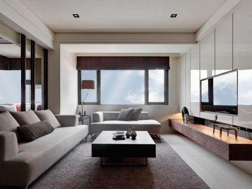 灰色時尚現代風格客廳裝修布置